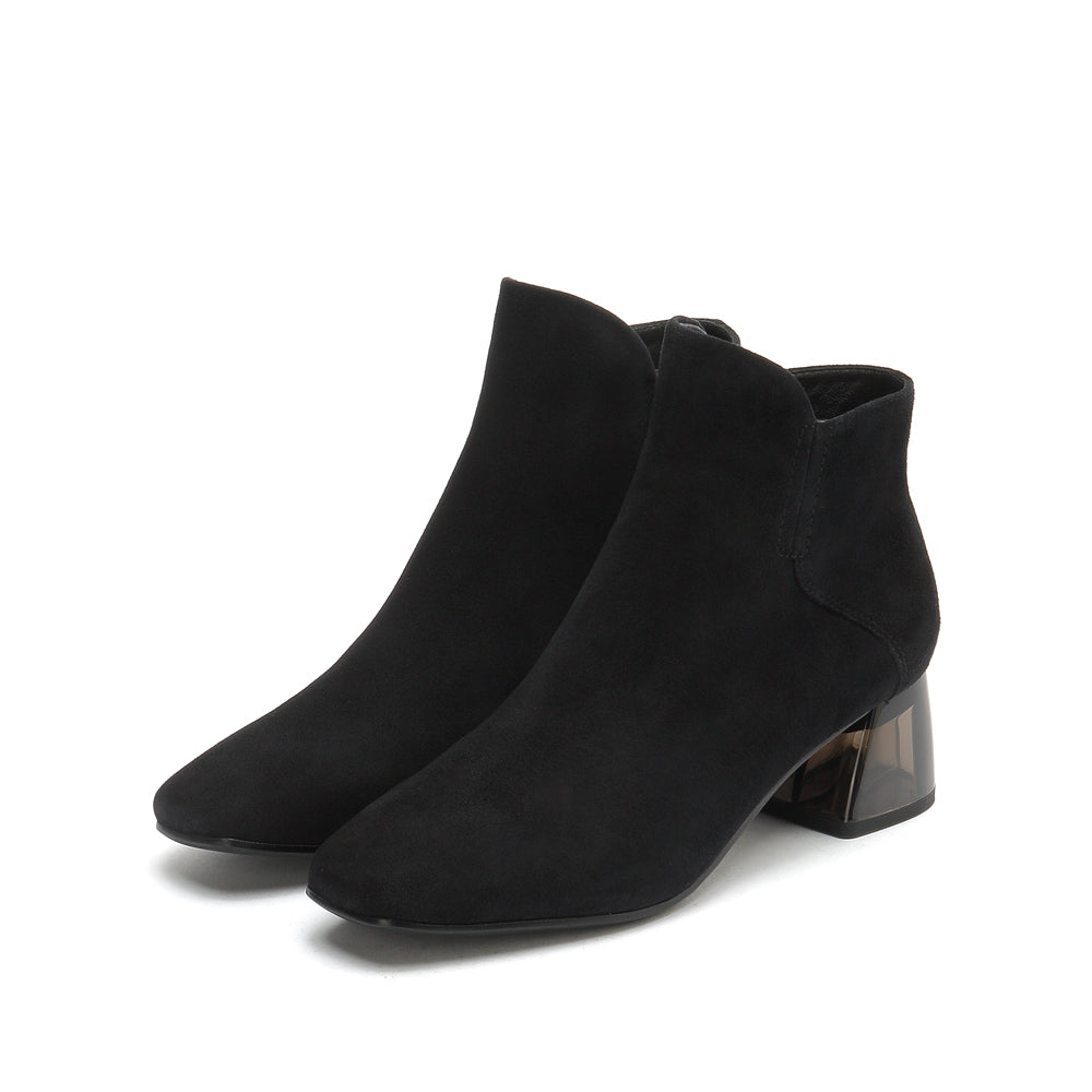 Suede Ankle Boots - Joy & Peace staccato