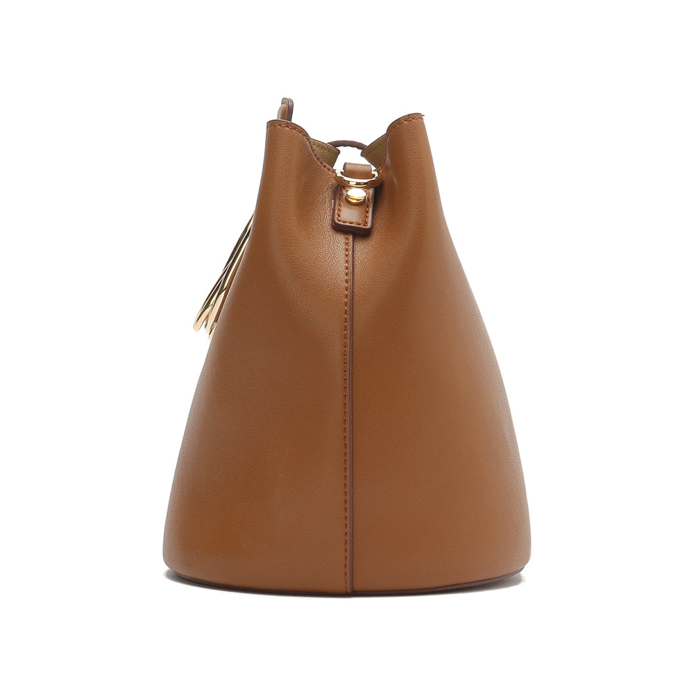 Leather Buckle Bucket Bag - Joy & Peace staccato