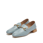 Crocodile Pattern Mid-Heel Loafers - Joy & Peace staccato