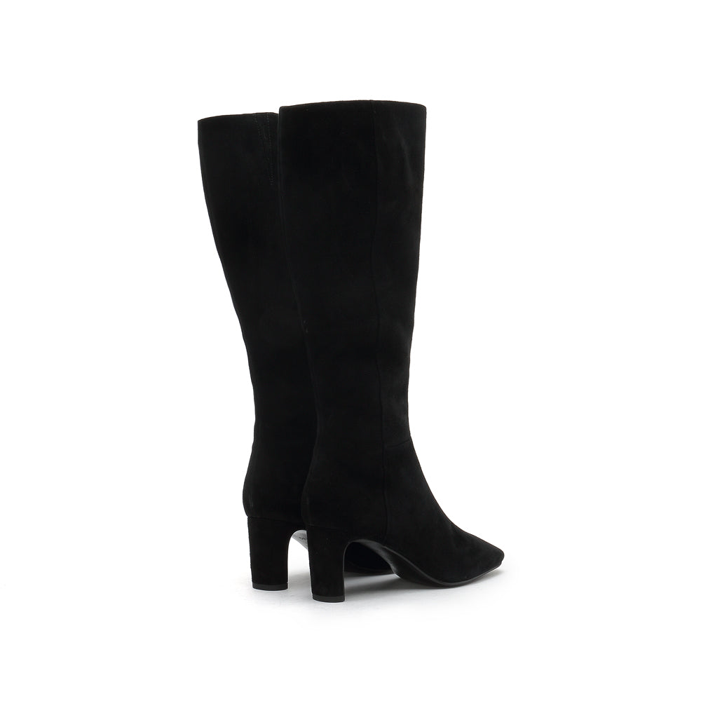 Suede Leather Heel Boots - Joy & Peace staccato