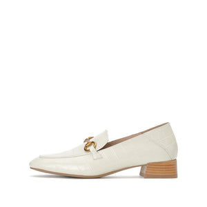 Embossed Faux Leather Loafers - Joy & Peace staccato