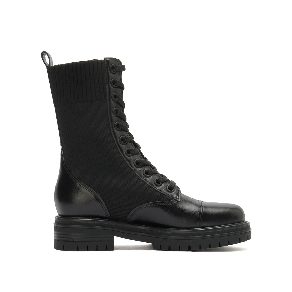 Lace-Up Mid Calf Combat Boots - Joy & Peace staccato
