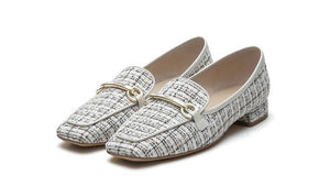 Tweed Loafers