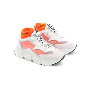 WHITE RUNNING SHOES WITH SEE-THROUGH UPPER / VIC MATIE - Joy & Peace staccato