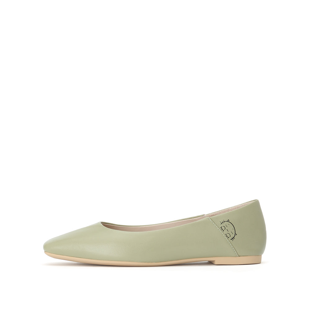 Kitty Cat Leather Flats - Joy & Peace staccato