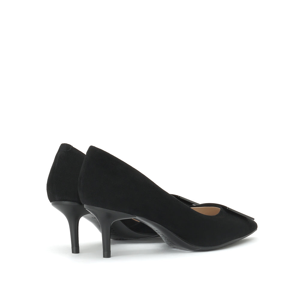 Metal Buckle Suede Pumps - Joy & Peace staccato