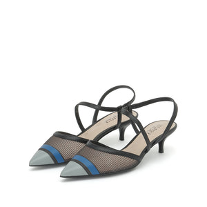 Color Block Slingback Pumps - Joy & Peace staccato