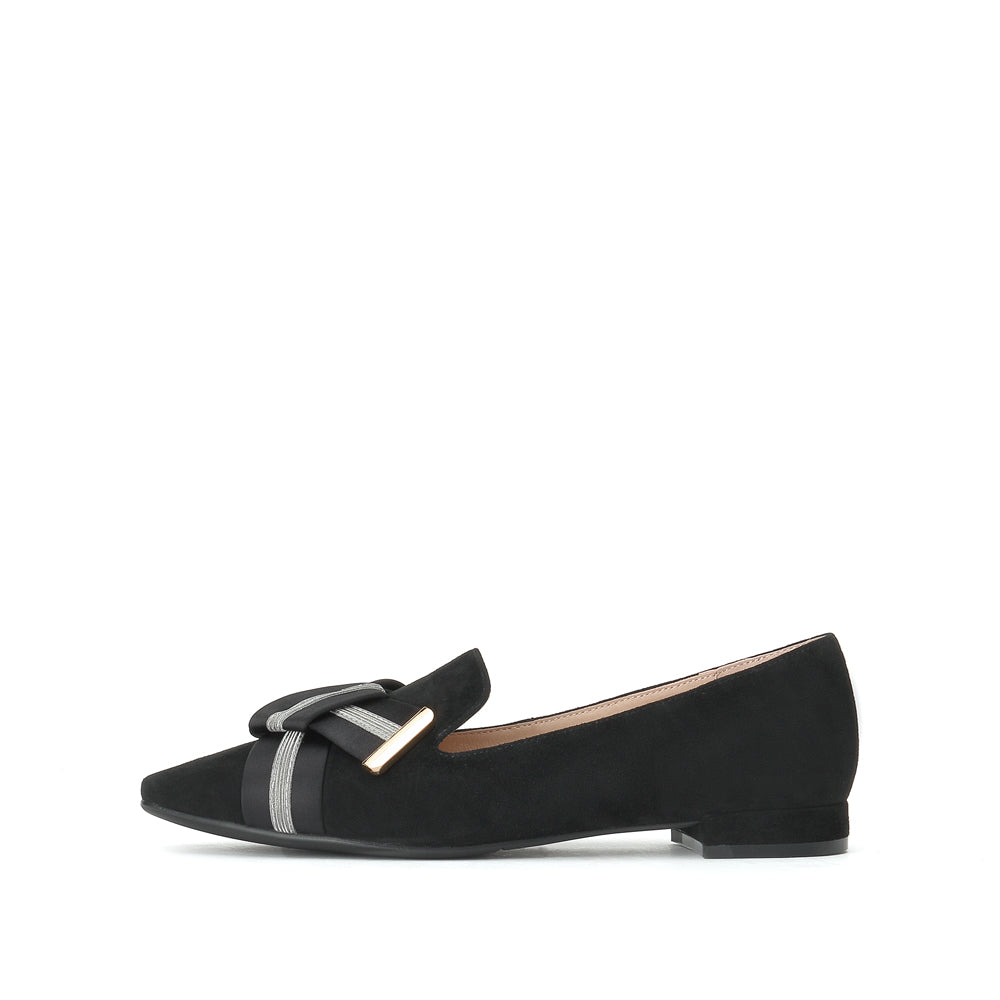 Ribbon bows Leather Loafers - Joy & Peace staccato