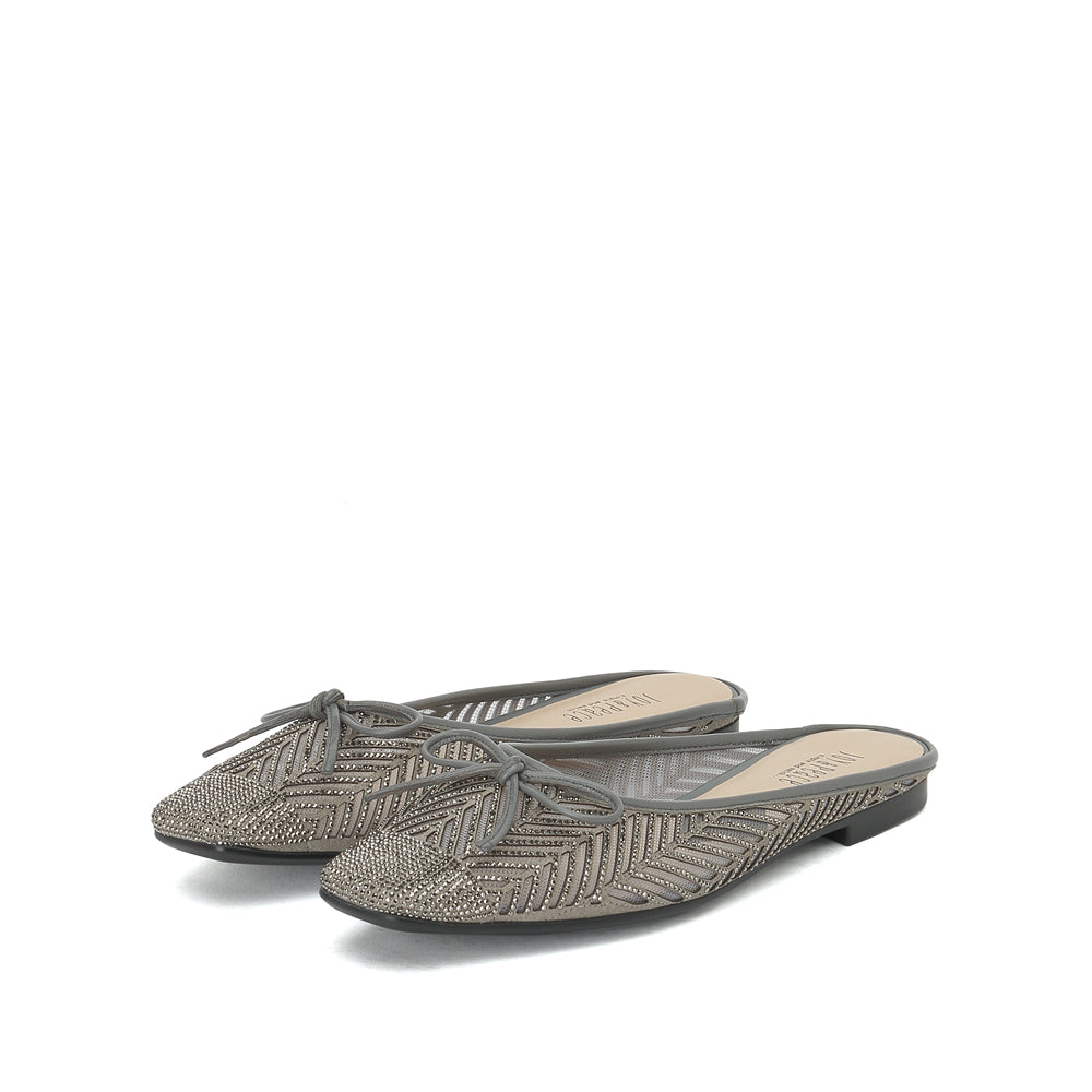Crystal Embellished Flat Mules - Joy & Peace staccato