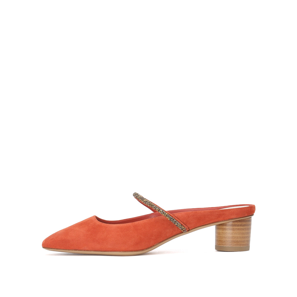 Made In Italy Leather Mules - Joy & Peace staccato