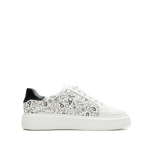 Graffiti Platform Sneakers