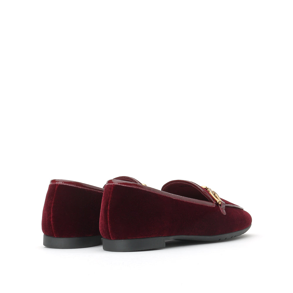 Metal Embellished Suede Loafers - Joy & Peace staccato