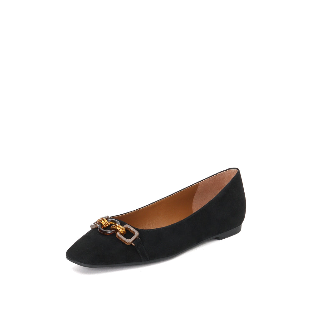 SUEDE BUCKLE FLATS - Joy & Peace staccato