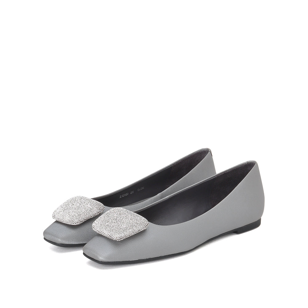 SQUARE TOE FLATS - Joy & Peace staccato