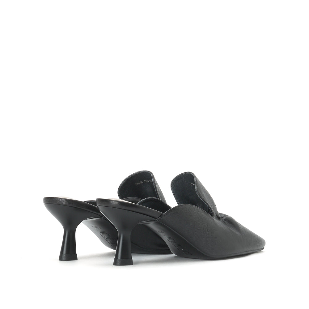 Kid Leather Heel Mules - Joy & Peace staccato