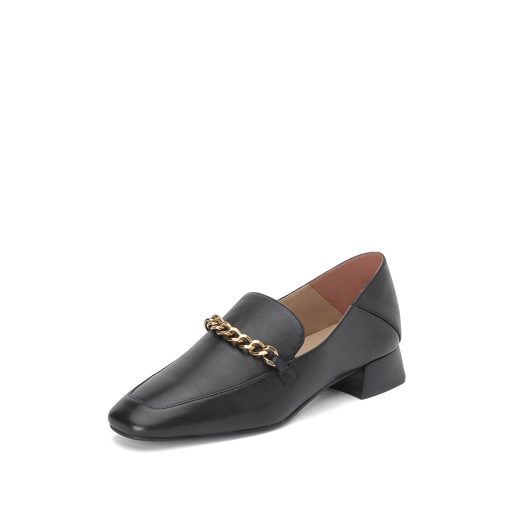Chained Leather Loafers - Joy & Peace staccato