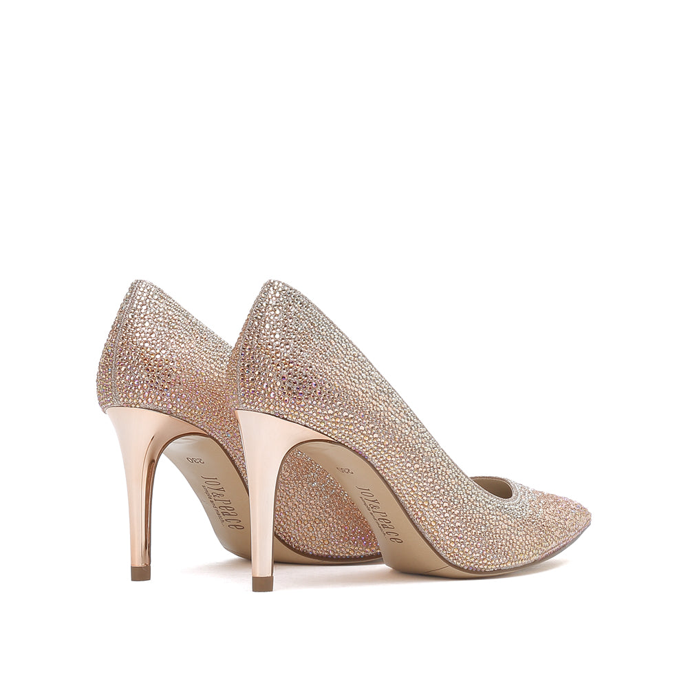 Crystal-embellished Pointed Toe Pumps - Joy & Peace staccato
