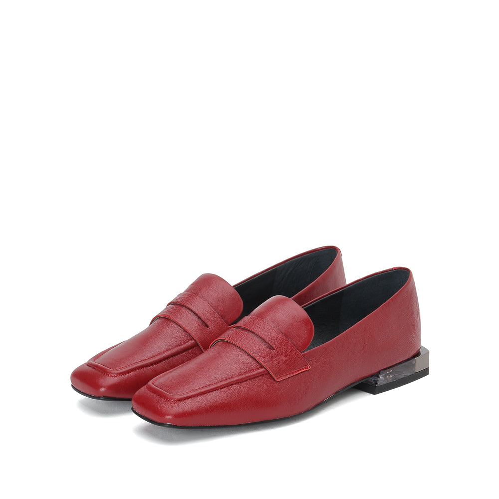 Leather Square Toe loafers - Joy & Peace staccato