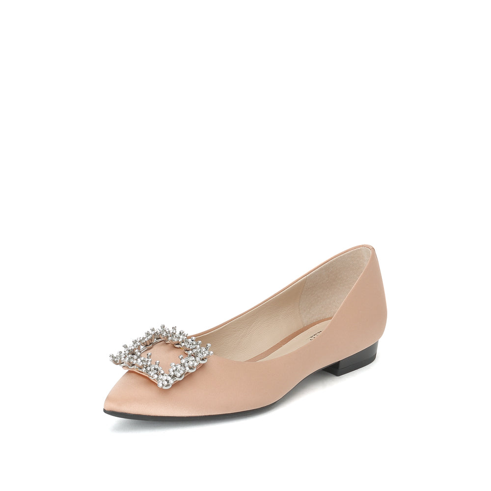 Crystal Buckle Flats - Joy & Peace staccato