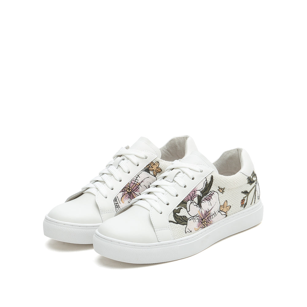 Flower Embellished Sneakers