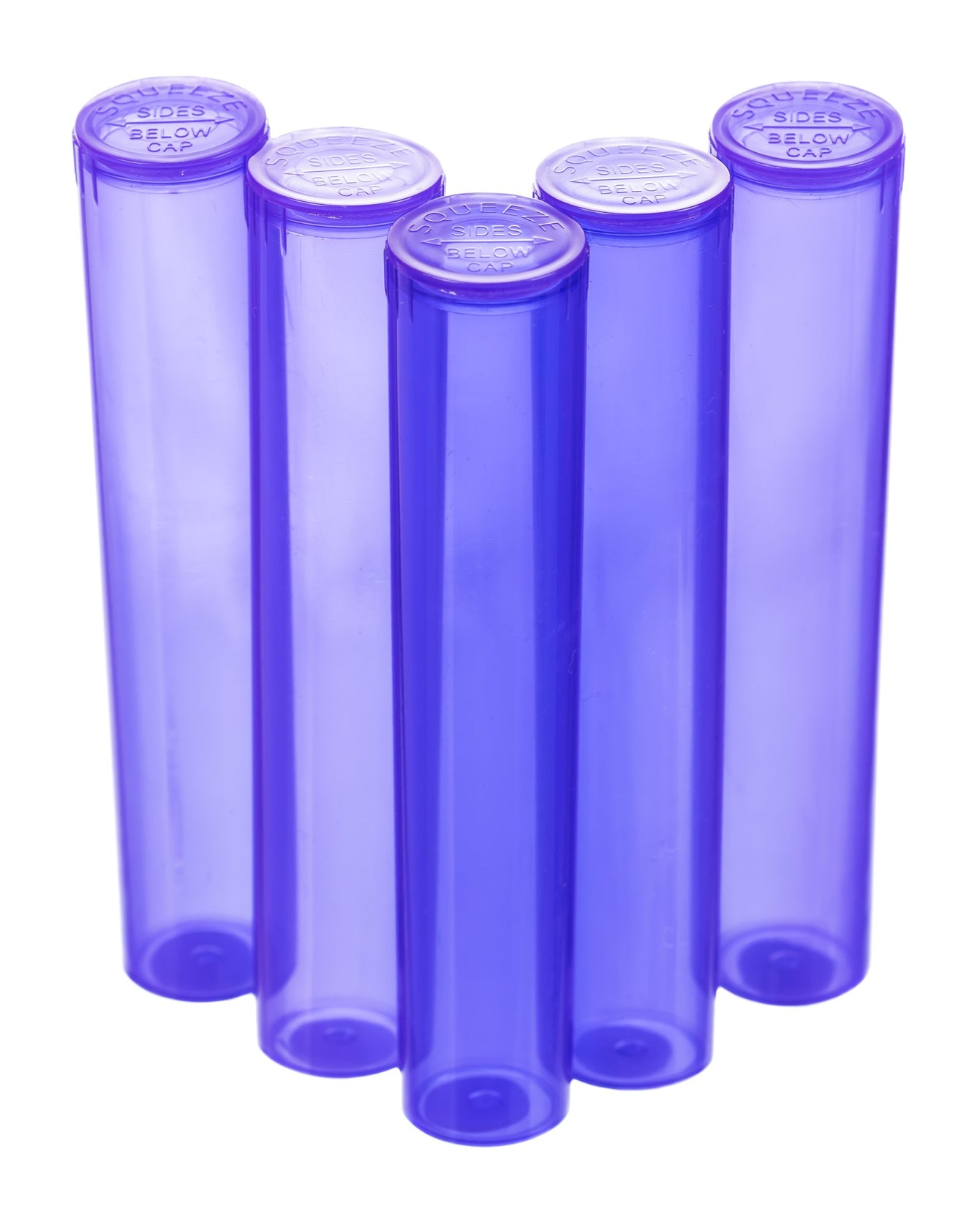 98mm pop top vials - 5 ct. Purple