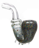 black speckled sherlock pipe