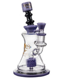Diamond Glass Big Puck Dab Rig in Purple