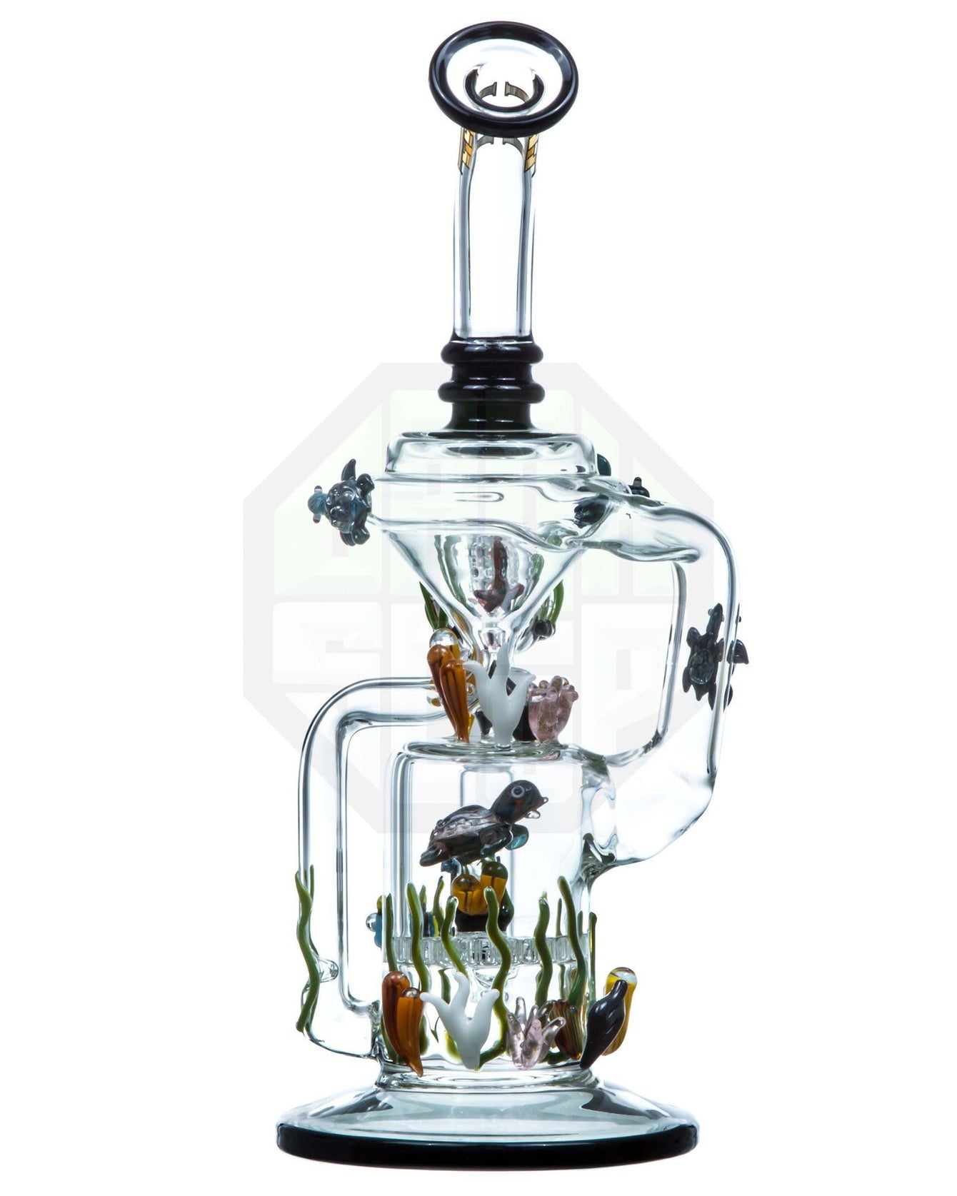 back of sea themed recycler