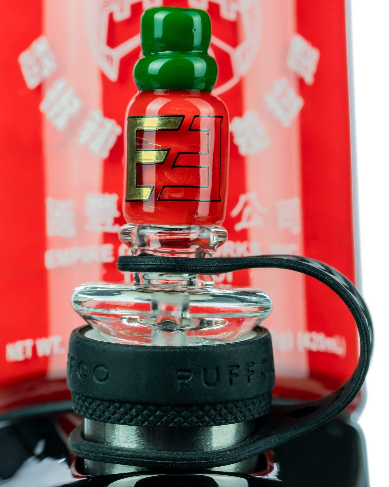 Sriracha Themed Carb Cap for Puffco Peak