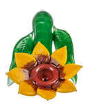 Sunflower Themed Glass Pipe