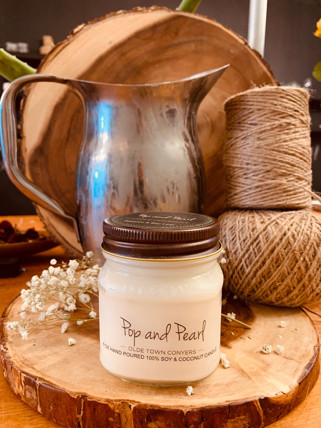 100% Soy and Coconut Candle 08oz