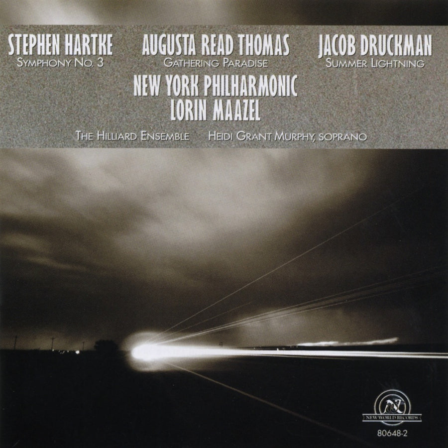 Music of Augusta Read Thomas, Jacob Druckman, and Stephen Hartke