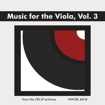Music for the Viola: A Twentieth Century Anthology, Vol. 3