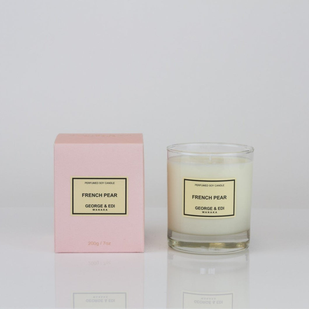 George & Edi Candle - Classic Range: French Pear
