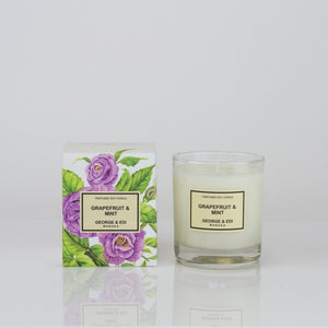 George & Edi Candle - Classic Range: Grapefruit & Mint