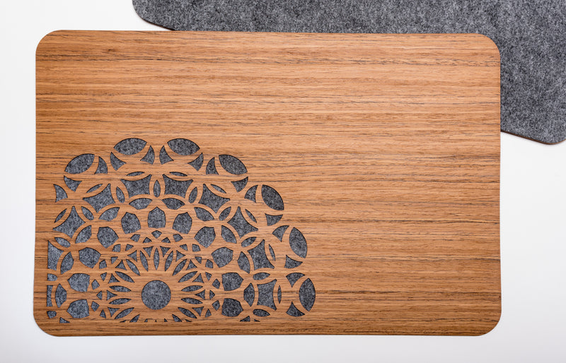 Wood & Felt TableMats with Lace