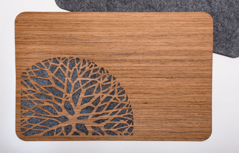 Wood & Felt PlaceMatts with Trees