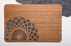 Wood & Felt TableMats with Lines