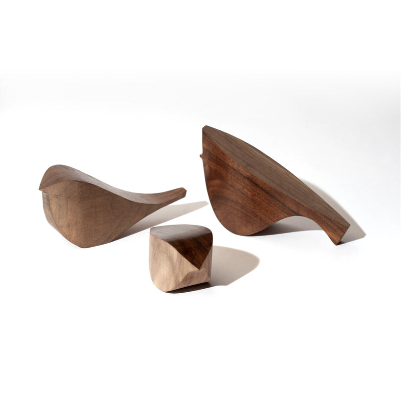 Hardwood HouseBirds in Walnut