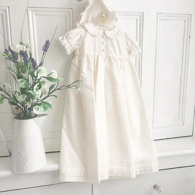 Unisex button christening gown 0/3 month