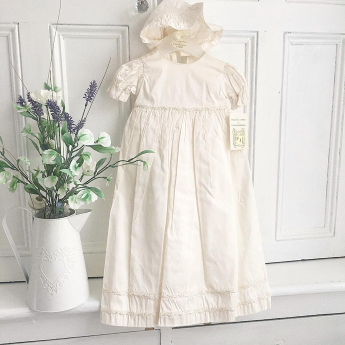 Unisex christening gown in ivory 0/3 month