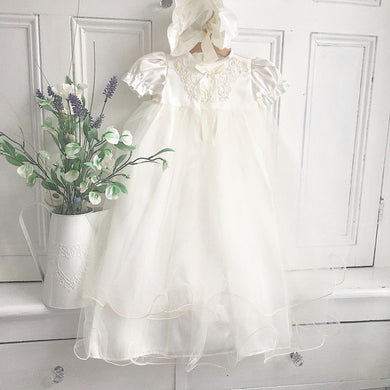Embellished christening gown 3/6 month