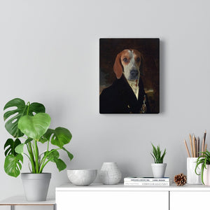 Custom Pet English Nobleman, Pet canvas portrait, Royal Pet Portrait Canvas, Elevate your pet to the next level with this custom canvas.