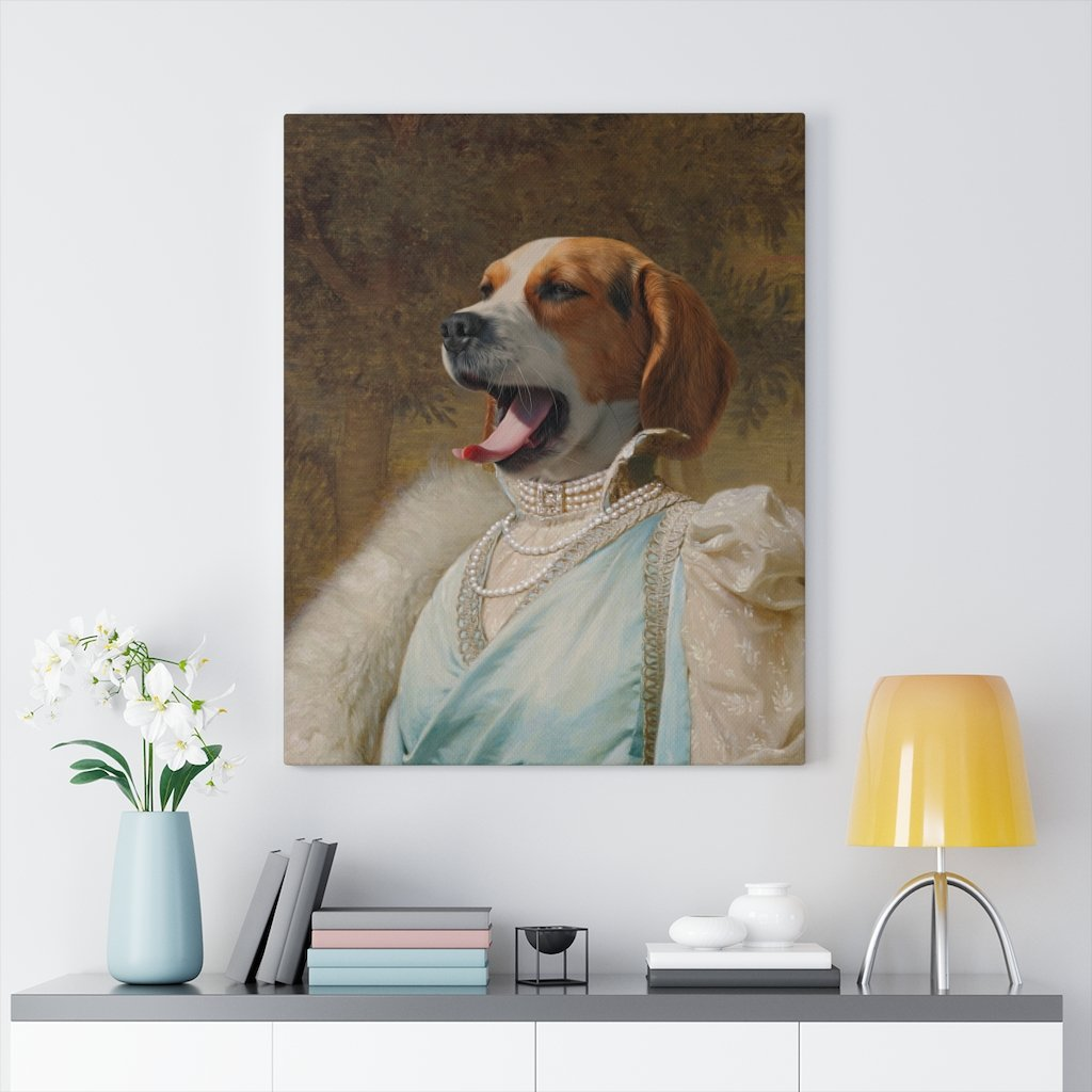 Noble Woman, Custom Pet Portrait, Pet Canvas Portrait, Royal Pet Portrait, Personalised Pet Canvas, Elevate your pet to the next level with this custom canvas