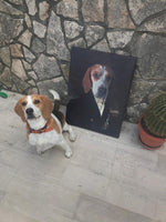 Load image into Gallery viewer, Custom Pet English Nobleman, Pet canvas portrait, Royal Pet Portrait Canvas, Elevate your pet to the next level with this custom canvas.