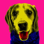 Load image into Gallery viewer, Customisable Andy Warhol Pet Pop Art Portrait, Custom Pet Portrait, Pet Canvas Portrait, Royal Pet Portrait, Personalised Pet Canvas, Elevate your pet to the next level with this custom canvas