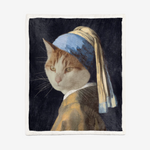 "Load image into Gallery viewer, Custom Pet ""Girl with pearl earnings"" Fleece Different Sizes"
