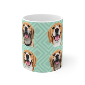 Custom Beagle Mug, Personalised Pet Mug size 11 oz/0.33 l or 15 oz/0.44 l