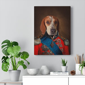 English General, Custom Pet Portrait, Pet Canvas Portrait, Royal Pet Portrait, Personalised Pet Canvas, Elevate your pet to the next level with this custom pet canvas