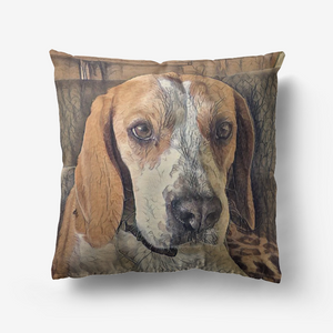 Custom pet pillow, pet pillow, personalized pillow, Dog portrait pillow - Personalisiertes Kissen: Your rust art style pet on a cushion! A